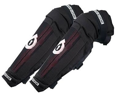 Knee / Shin Guard by  Sixsixone 4x4 model size XL black & Red Protection brace