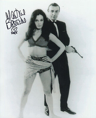 Martine Beswick In Person Signed Photo - A1244 - James Bond