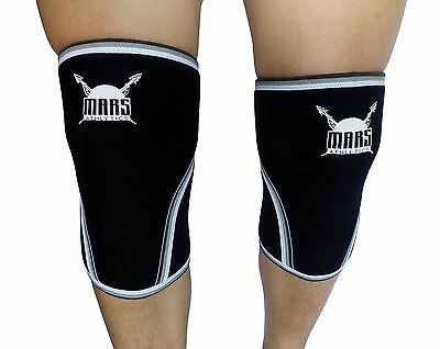 Knee Compression Sleeve for Weightlifting Crossfit Running 7mm Neoprene (1 Pair)