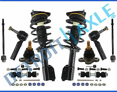 Chevy Impala Monte Carlo Inner&Outer TieRod Strut&Spring Ball Joint Kit 10pc