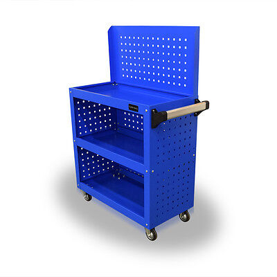 400 Us Pro Tools Blue Tool Rack Cart Mobile Trolley Workbench Box Pegboard Panel