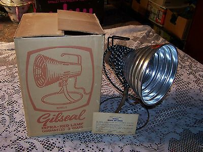 Vintage Breville Gilseal Heat Lamp Infro Red Table Top Lamp Electric