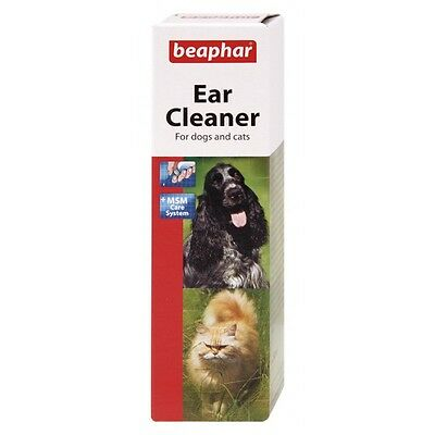 Beaphar Ear Cleaner 50ml For Cats & Dogs aid Removal of Wax & Debris - FREE P&P