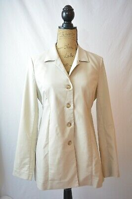 NWT Motherhood Maternity - Beige pieced lightweight jacket top, tie in back, S