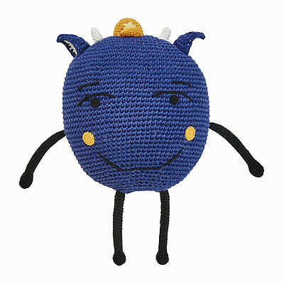 Blue Monsters Hand Crochet Decorator Toy Cushion