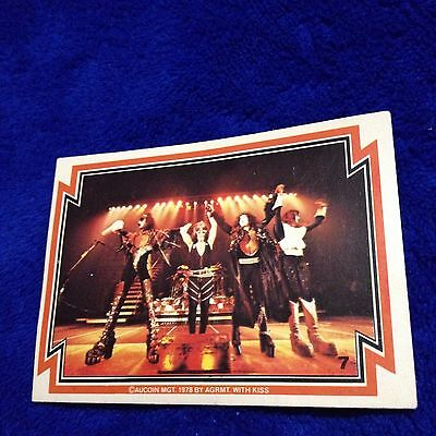 Vintage KISS Trading Card #7 1978 Aucoin