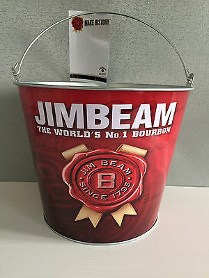 BNWT Official Genuine Jim Beam Label Merchandise Metal Tin Ice Bucket Bar Party