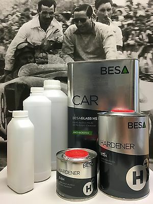 Peinture Carrosserie: Kit 5 L Vernis Auto BesaGlass Antirayures High Solid