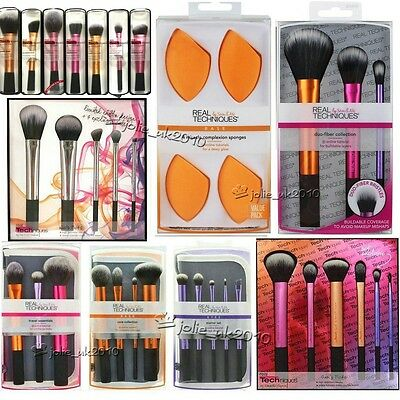 2017 Pro Real Techniques Make Up Starter Kit 3 Sets Brushes Core Collection Tool