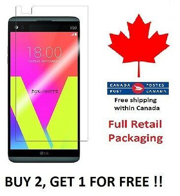LG V20 Premium Tempered Glass Screen Protector Full Retail Package From Canada