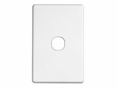 5 x Clipsal One ( 1 ) Gang Single Wall Plate Classic Series Light Switch C2031VH