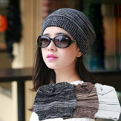 New Women Men Winter Warm Ski Knitted Crochet Slouch Baggy Beanie Hats Cap Beret