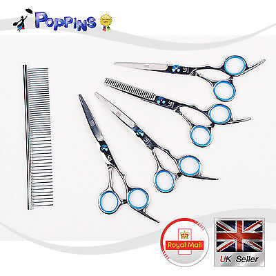 New Pet Dog Grooming Scissors Cutting & Thinning & Curved Shears Set