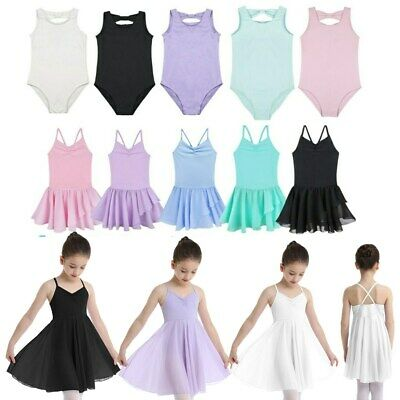 Girls Gymnastics Ballet Dress Toddler Kids Leotard Tutu Skirt Dance wear Costume