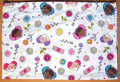 Disney Doc McStuffins Toddler Flat Sheet - Bedding - Fabric - VGC