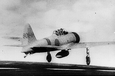 New 5x7 World War II Photo: Japanese A6M2 Zero Take Off for Pearl Harbor Attack