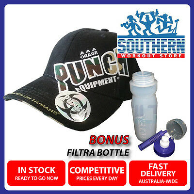 Punch Equipment Instructor Cap Black FREE Filtra Water Filtering Sports Bottle