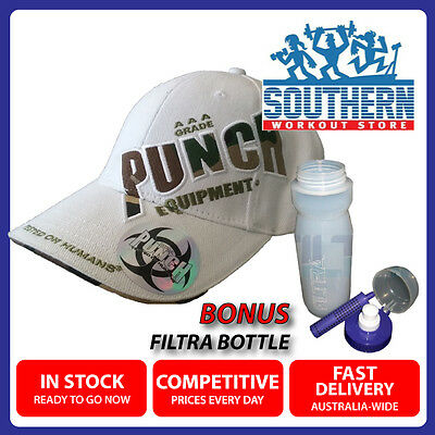 Punch Equipment Instructor Cap White FREE Filtra Water Filtering Sports Bottle