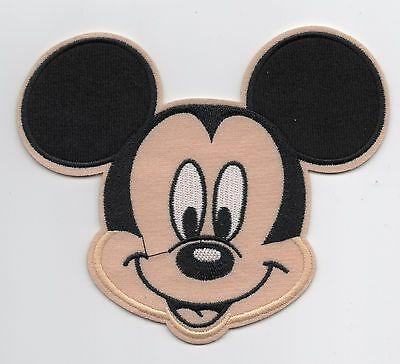 Large Mickey Mouse Happy Face Iron On / Sew On Patch Embroidered Badge Applique