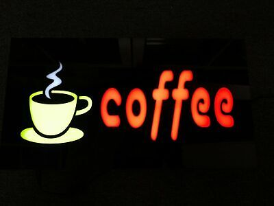 NEW 12V LED Neon coffee CUP Bright Sign Light box for Business Shop 48cm*24cm