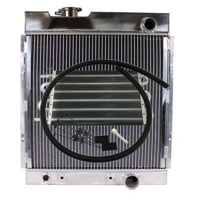 3-Row Racing Design Radiator for 64-66 Ford Mustang & Transmission Oil Cooler