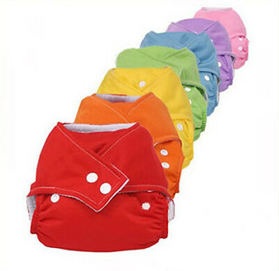 Infant Baby Washable Reusable Cloth Diapers All in One Size Adjustable Nappies