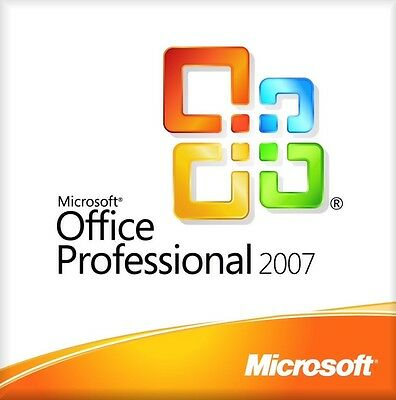 Microsoft Office Professional Suite 2007 For Windows XP Vista 7 8 And 10 BARGAIN