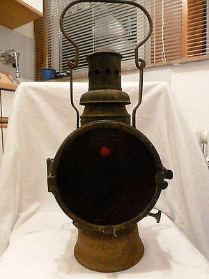 Laterne Bahnlaterne Dampflok Reichsbahn vintage train lamp rusty shabby