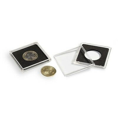 Pack of 10 Lighthouse Square Coin Capsules Quadrum Size 14mm to 41mm or self cut