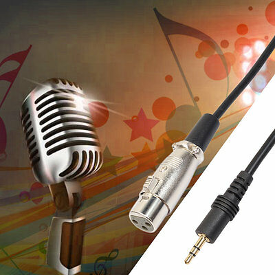 XLR 3.5MM Male To Female Stereo Jack Audio Cord Cable Connector For Mic AU