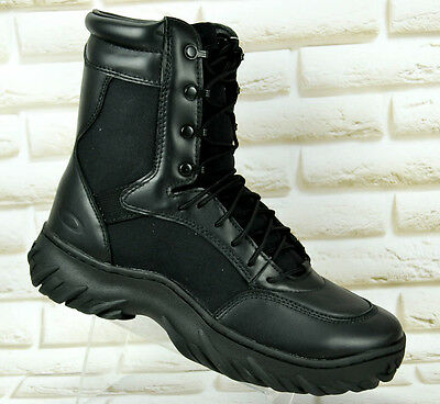 """OAKLEY SI Assault 8"""" BOOTS MENS Ankle Black Leather Vibram Combat Military Boot"""