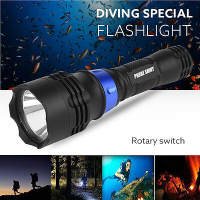 5000LM  XM-L T6 LED Scuba Diving Underwater 500M Flashlight Torch Waterproof