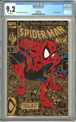 Spider-Man #1 (1990) CGC 9.2 White Pages 0294927005 Gold Ed