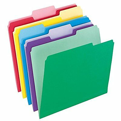Pendaflex File Folders with InfoPocket, Letter Size, 1/3 Cut, Assorted Colors,
