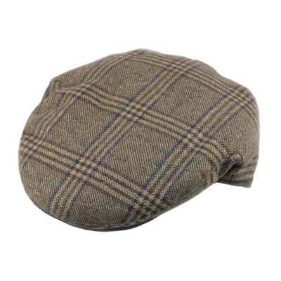 Christys' Hats Brighton Driver Cap Teviot Tweed Forest