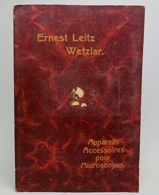 Antique 1909 LEITZ Accessory Devices for Microscopes CATALOG/ BOOK