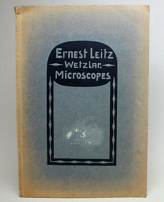 RARE Antique 1912 LEITZ MICROSCOPES Catalog No. 44 A/ Book