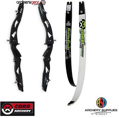 """Core Air Recurve Bow RHD 66"""" choose colour and Draw Weight"""