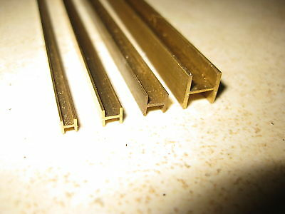 H beam profile milled brass section for model making in 14 sizes, 330mm long