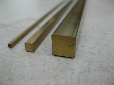Square brass bar for model making and craft work 1.0-10.0mm, 330mm long