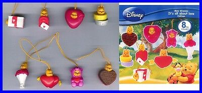 TOMY SET 8 Figure WINNIE All About LOVE 2010 Mini Winnies Peek a Pooh FIGURES