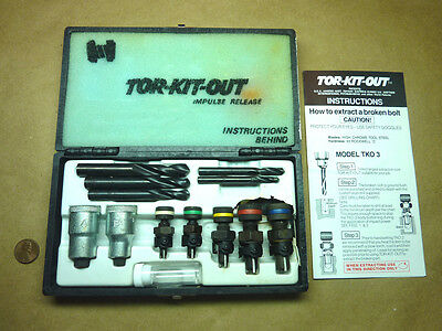Tor-Kit-Out HIGH Quality Stud Bolt and Screw Extractor Set by Haben Corp