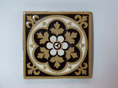 Single Victorian Fireplace Hearth The US Encaustic Tile Co of Indianapolis IN
