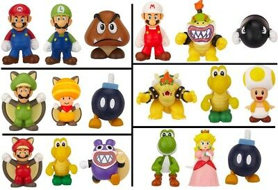 SUPER MARIO BROS Pack 3 MINI FIGURE MICRO LAND Originale JAKKS PACIFIC Nintendo
