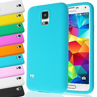 Thick Plain Soft Impact Shock Silicone Case Cover For Samsung Galaxy S5 Sv