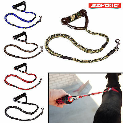 "EzyDog Cujo Dog Lead Reflective Strong Bungee Shock Absorbing Leash 25"" & 40"""