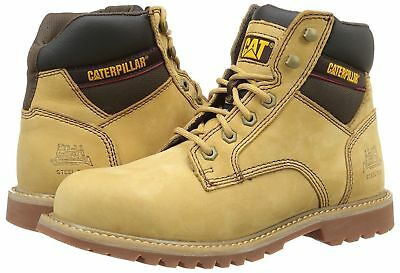 New Mens Leather Safety Boots Steel Toe Cap Military Hi Combat Work Shoes Sizes