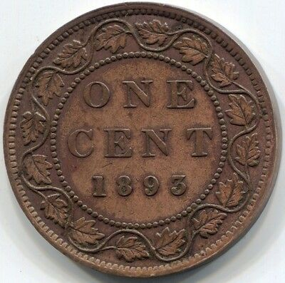 1893 CANADA ONE CENT Coin