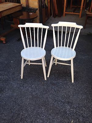 Vintage Beech Elm Dining Chairs
