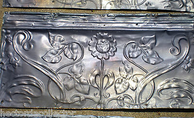Antique Victorian Ceiling Tin Tile Flowers Leaves Shabby Chic